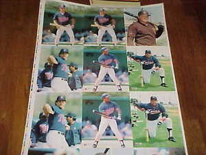 1989 Topps Sports Shots Portfolio Baseball Card Uncut Sheet Puckett