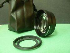 KAT BK 52mm 2.0X Telephoto Tele Lens+Adapter Ring For Fujifilm Fuji X10 X20 X30