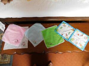 Vintage Mouchoirs Touristique Souvenirs De Tenerife Afrique Inde Ect Six Au Total-afficher Le Titre D'origine Blanc Pur Et Translucide