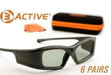 SAMSUNG-Compatible 3ACTIVE® 3D Glasses. Rechargeable.  SIX PAIRS