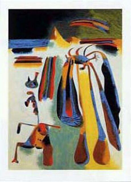 Joan Miro Blue II 4 3 61 Poster Bild Kunstdruck im Alu Rahmen in schwarz 60x80cm