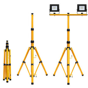 HYGRAD/® LED Flood Light Tripod Stand Portable Work Site Floodlight Telescopic Tripod UK