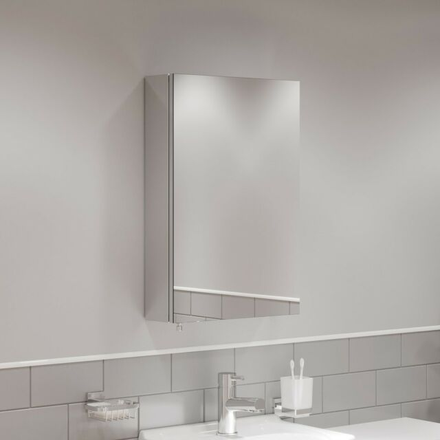 Reims Single Door 120cm Tall X 38cm Wide Corner Mirror Bathroom Wall Cabinet For Sale Ebay