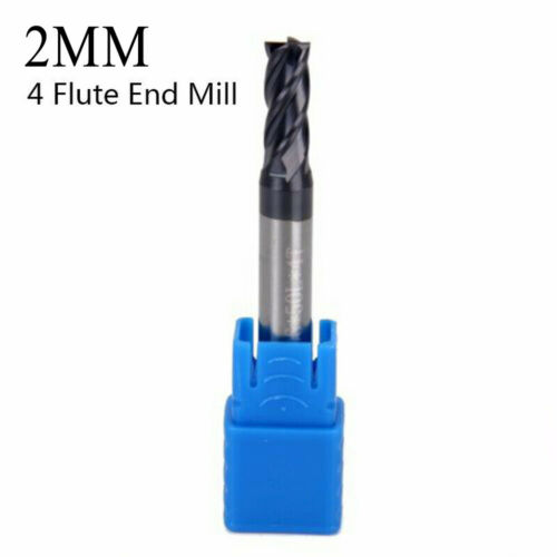 Vollhartmetall Schaftfräser 4 Zähne Fräsen Fräser HPC Edelstahl Nützlich