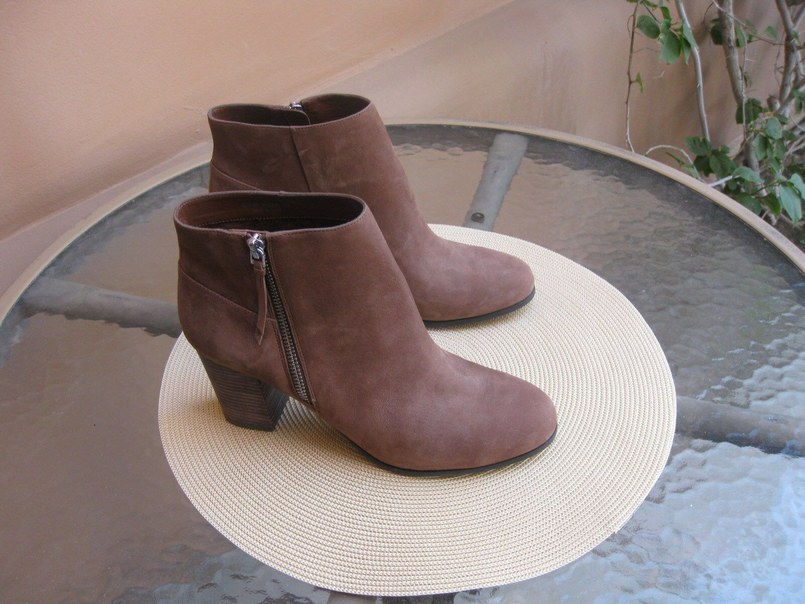 COLE HAAN SIGNATURE GRAND.OS TAN SUEDE ANKLE BOOTS, SIZE 8 1 2B