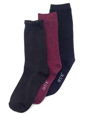 $40 BLOOMINGDALE/'S Women/'s 4-Pairs Pack BLACK /& BROWN Soft Crew Socks ONE-SIZE