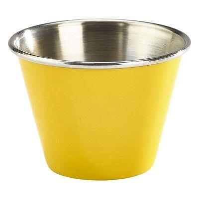 Devoto 6oz Acciaio Inox Pirottino Giallo Che Servono Contorno Ciotola Contenitore Salsa X 4- Distintivo Per Le Sue Proprietà Tradizionali