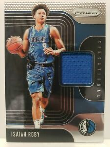 ISAIAH-ROBY-2019-20-Panini-Prizm-RC-patch-Mavericks-ROOKIE