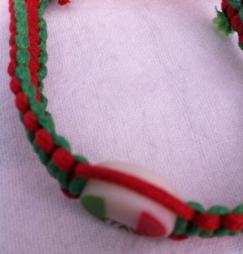 Italy Flag Rope Bracelet Italian Football Wrist Band World Cup Soccer Band NEW