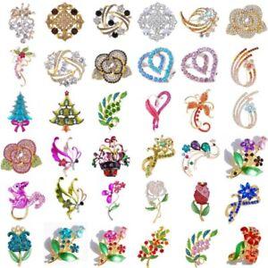 Wedding-Bridal-Bouquet-Brooch-Pin-Women-Rhinestone-Crystal-Flower-Brooch-Gift