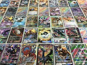 Pokemon-Tarjeta-Lote-de-100-tarjetas-de-juego-oficial-Trading-Card-Ultra-Raro-incluye-1-Gx-ex-MEGA