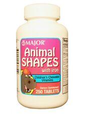 Major Animal Shapes W/iron Chew Tabs Ascorbic Acid-60 MG 250 Tablets