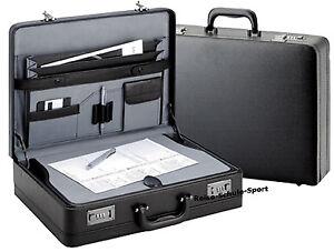 D-amp-N-Aktenkoffer-Schreibplatte-Dehnfalte-Zahlenschloss-schwarz-cartafol-Business