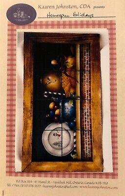 Actief Holiday Tole Painting Pattern Packet Homespun Holidays By Kaaren Johnston Klanten Eerst
