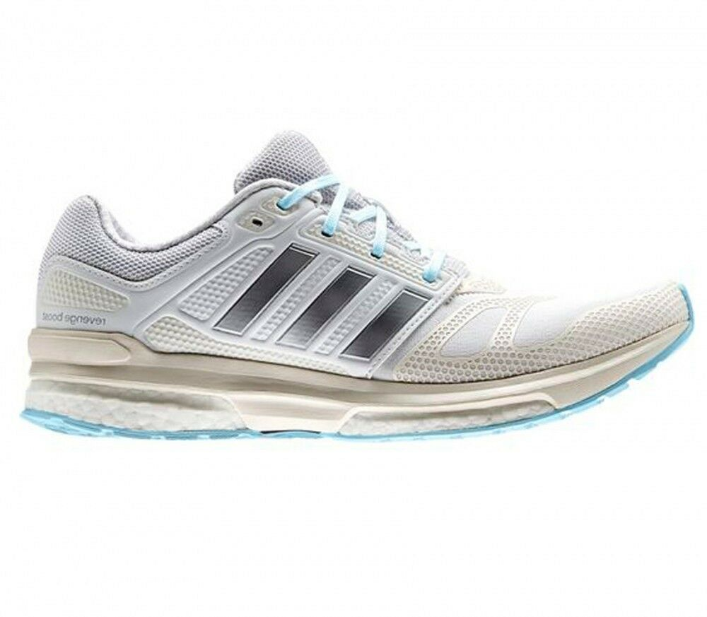 Femme Ladies Adidas Revenge Boost Techfit Running Chaussures Trainers Sneakers Blanc