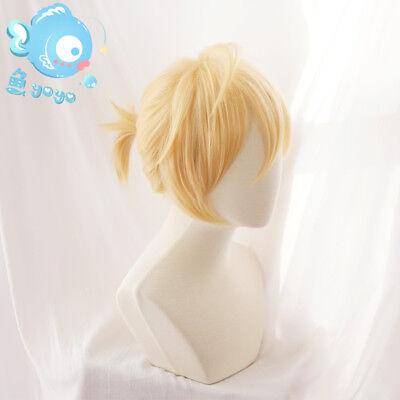 Wig Cap Japanese Anime Vocaloid Kagamine Len Yellow Short Cosplay Hair Wig
