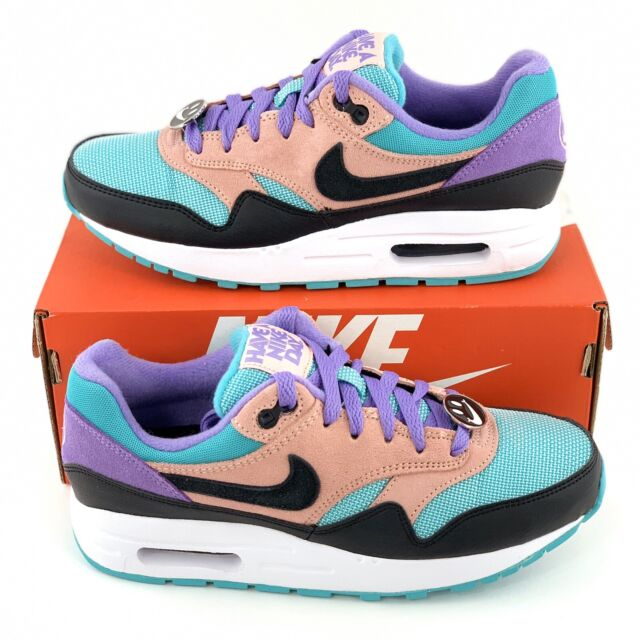 Nike Air Max 1 Have A Nike Day Women's Sneakers Shoes Black Purple AT8131 001