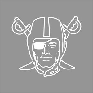 Oakland raiders 4 nfl team logo 1 color vinyl decal for Oakland raiders logo coloring page