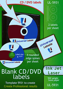 50-CD-or-DVD-labels-2-labels-amp-4-spines-per-sheet-Made-in-the-USA