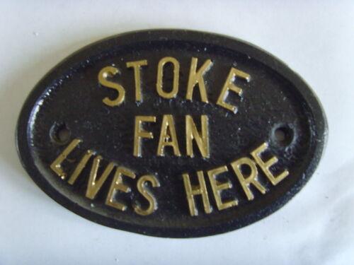 STOKE CITY POTTERS FAN FOOTBALL PLAQUE SIGN