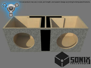 STAGE 1 - DUAL PORTED SUBWOOFER MDF ENCLOSURE FOR NVX VCW12 SUB BOX