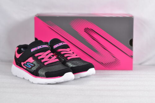 Youth Girl/'s Skechers Go Run 400-Sparkle Sprinters Sneakers  Black//Pink