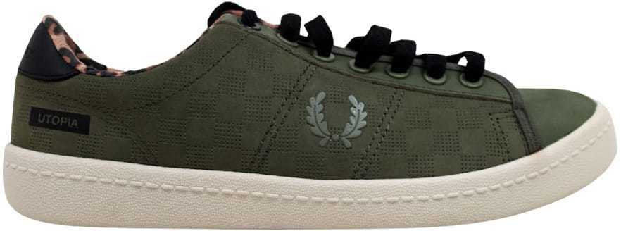 Frouge Perry Bodega Reissue Tennis Chaussure 2 Olive SB7060 Homme Taille 10