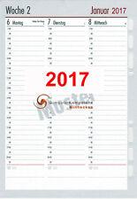 bsb Kalendarium 2017 1 Woche=2Seiten Spalten  Multilochung A5 Timeplaner 02-0096
