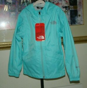 22920988f Details about The North Face Girls Zipline Rain Jacket Mint Blue Sz 5 XXS  New with Tags