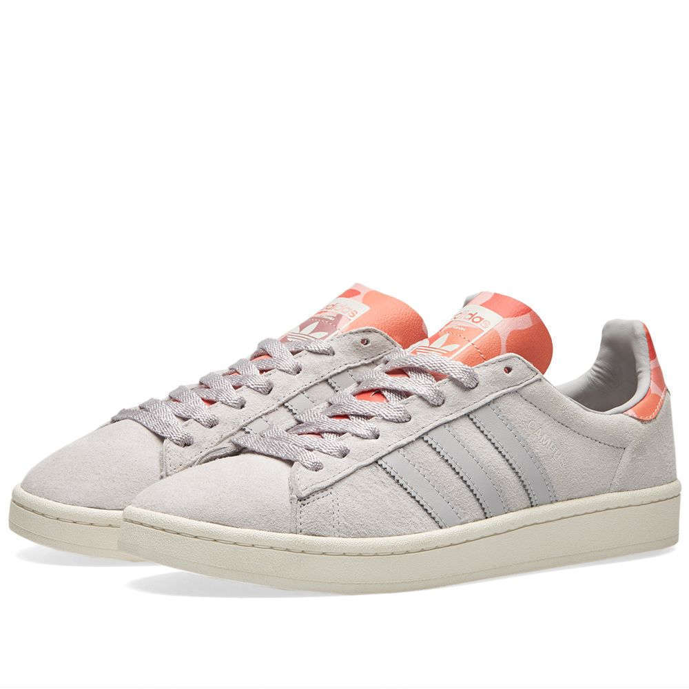 ADIDAS MENS CAMPUS MENS ADIDAS TRAINERS - SOLID GREY / SUNSET GLOW - BB0078 - 4820c6