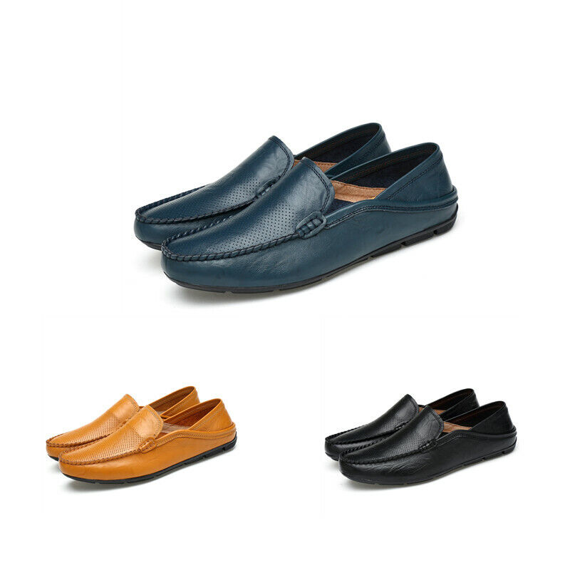 Mens Slip On Gommino Loafers Solid xLow Top Pumps Hollow Out Driving shoes New