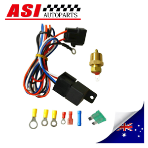 Electric-Cooling-Thermostat-Fan-Sensor-Temperature-Switch-Wiring-Relay-Kit
