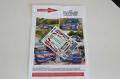 Acquista A Buon Mercato Decals 1/43 Peugeot 206 S1600 Guylhem Dussaucy Rallye Limousin 2002 Wrc Rally