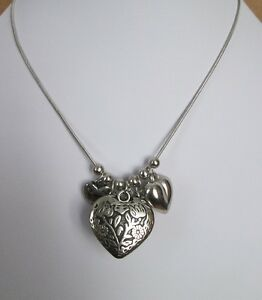 BRAND NEW OASIS SMALL amp LARGE MULTI HEART SILVER TONE NECKLACE - UK, United Kingdom - BRAND NEW OASIS SMALL amp LARGE MULTI HEART SILVER TONE NECKLACE - UK, United Kingdom