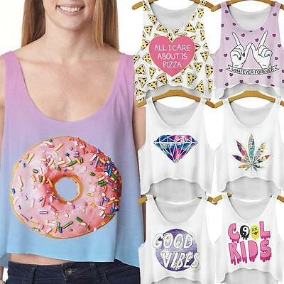 Sexy Summer Casual Women Cookie Heart Tank Top T-Shirt Blouse Cartoon Vest