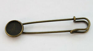 20PCS-Antiqued-bronze-12mm-Cabochon-Settings-Brooch-Pin-22965