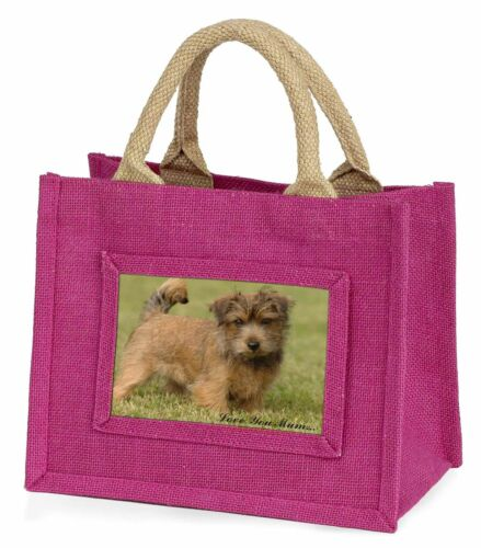 Norfolk Norwich Terrier 'Love You Mum' Little Girls Small Pink Sho, ADNT1lymBMP