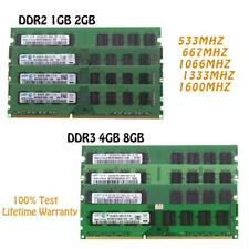 Lot RAM 1GB 2GB 4GB DDR2 DDR3 Desktop Memory RAM DIMM Intel 240Pin for Samsung
