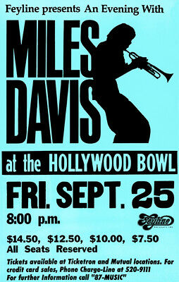 Miles Davis 1981 Concert Poster Print by delovely Arts