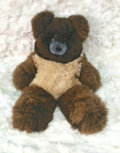 "37 Inches tall Handmade. 37/"" Brown Plush Alpaca Teddy Bear 100/% Baby Alpaca"