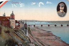 Graudenz / Grudziądz Eisenbahnbrücke, Kaiser Wilhelm Postkarte