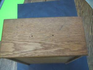 "5 1/2""h X 11 7/8"" W X 18 7/8"" D Knowledgeable 1900's Original Hoosier Cabinet Oak Drawer Antiques"