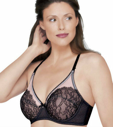 41749df4b0 New Wacoal 855186 Retro Chic Chantilly Lace Underwire Bra - Ck Color   Size