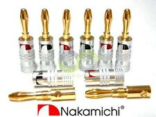 12x Nakamichi 24k Gold Plated Audio Banana Speaker Plug Screw Cable & Wire Diy