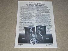 Yamaha Speaker Ad, 1976, NS-1000m, NS-690II, Article, 1 page, RARE!