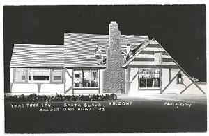 RPPC Christmas Tree Inn ~ Santa Claus Arizona c1950s ~ Az Ghost ...