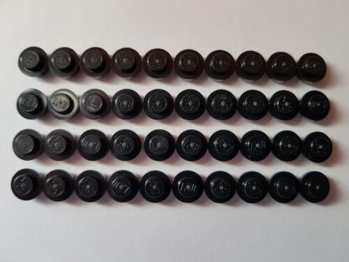 LEGO ® 40 x 4073 plaque 1 x 1 Noir Rond 614126 #aa53 Black