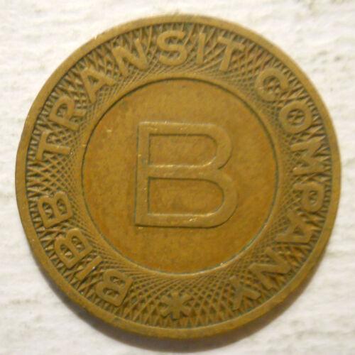 Bibb Transit Company Macon, Georgia GA580E school transit token