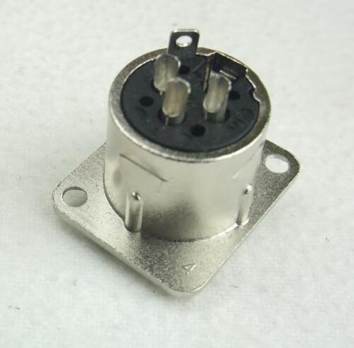 XLR female Einbaubuchse D-Typ 3 polig Buchse Neutrik kompatiebel Kupplung 3-pol