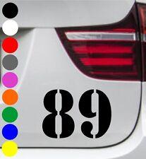 WD Autoaufkleber STARTNUMMER STENCIL Motorrad Tuning Sticker Decal - jede Größe